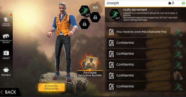 Bahas Karakter Terbaru Joseph Garena Free Fire Indonesia