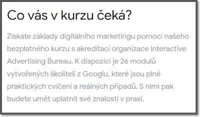 Co vás čeká v kurzu Základy digitálního marketingu