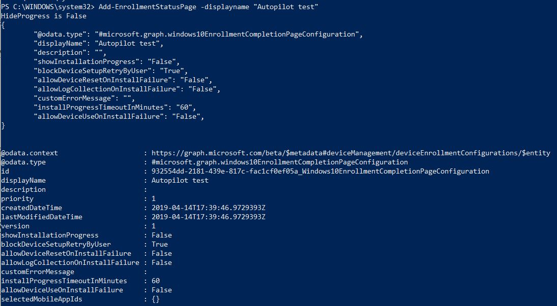 Manage Autopilot with PowerShell: More features - Syst & Deploy