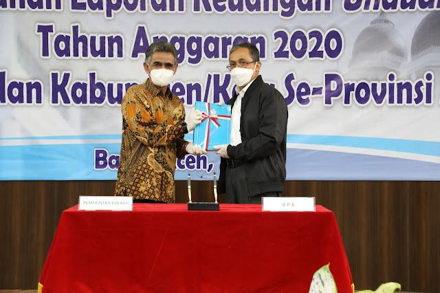 Bupati Aceh Utara Serahkan LKPD Unaudited 2020 Kepada BPK RI