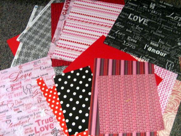 Valentine's Scrapbook Paper