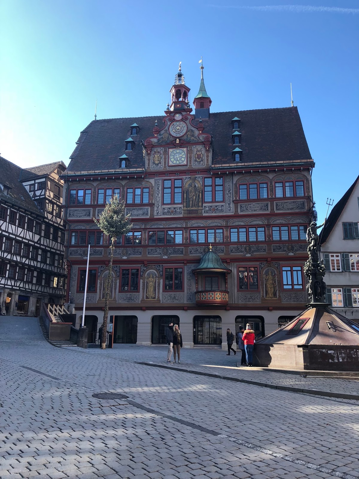 The Lovely Rathaus In Tübingen They Finally Finished Renovating It