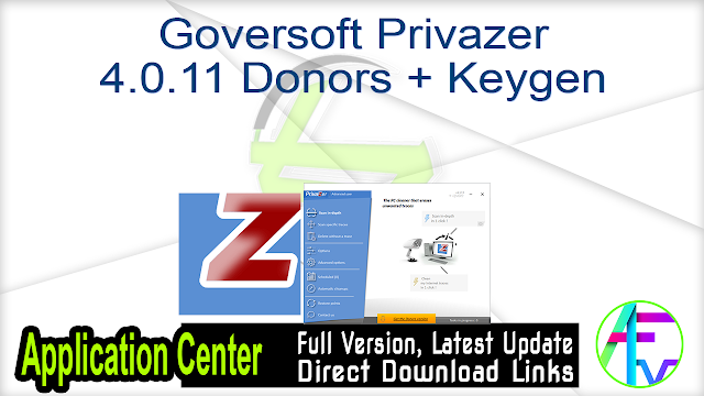 Goversoft Privazer 4.0.11 Donors + Keygen