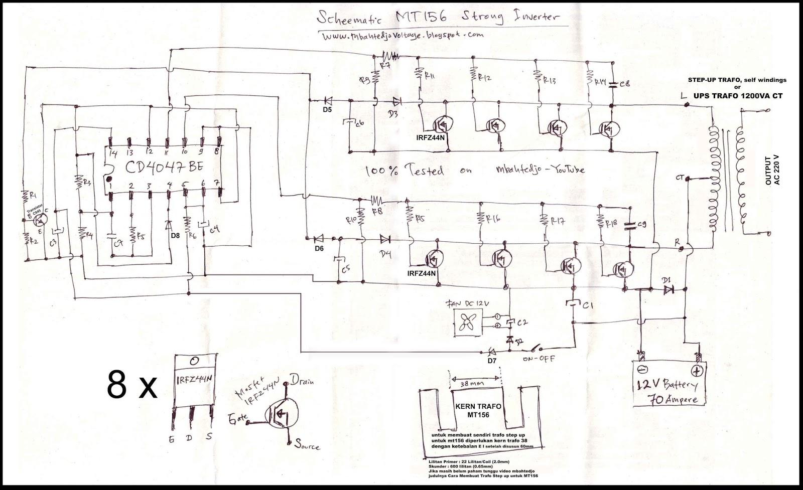 mbahtedjo voltage  STRONG    INVERTER    MT156  Scheematic