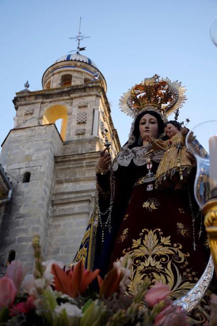 Horario e Itinerario salida procesional de Madre de Dios del Rosario. Jerez de la Frontera 19 de Octubre del 2019