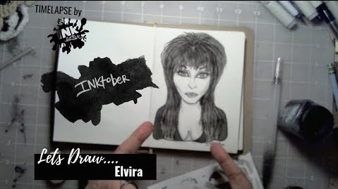 Elvira  - Bad Ass Ladies of Horror - Inktober 2018