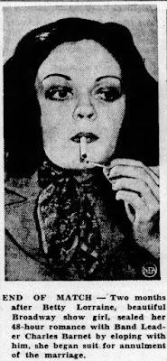 Betty Lorraine Charlie Barnet
