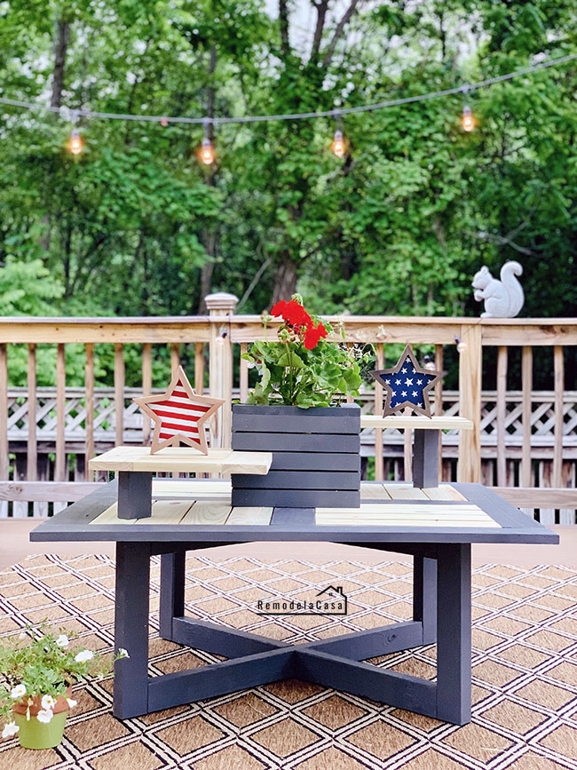 outdoor coffee table free plans
