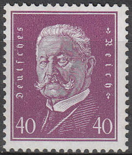 Germany 3rd Reich Mi 418 Sc 379 1928 Hindenburg General Prussia