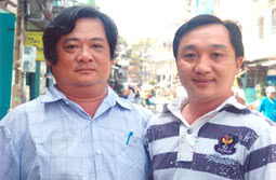Hai anh em võ sư Huỳnh Chí Dân (trái) và Huỳnh Chí Mãng