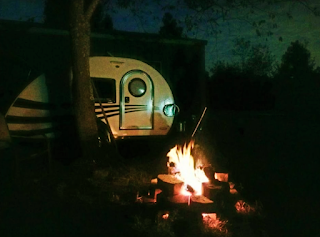 tiny teardrop trailer camping