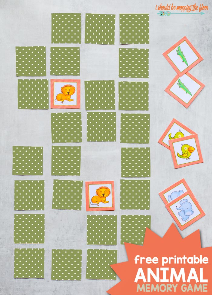 Free Animal Printable Picture Memory Games