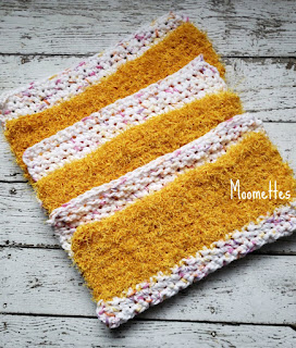 Handmade Cotton Dish Cloths with Scrubbie Pad