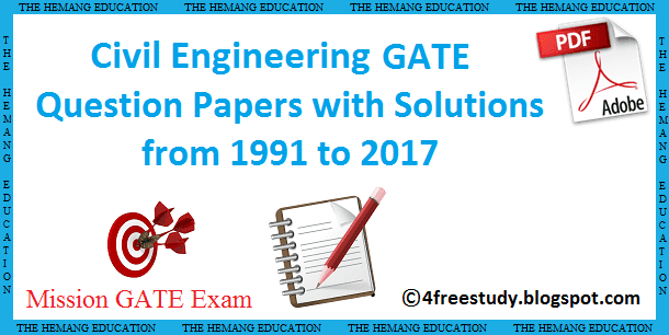 Gate Exam Previous Year Question Papers Pdf
