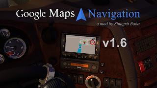 ets 2 google maps navigation v1.6