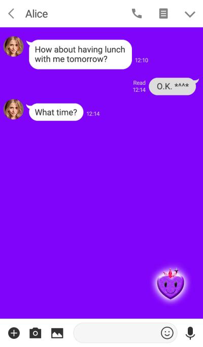 Purple Simple Heart