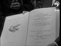 Международная премия мира, врученная Чаплину, 1954 г.