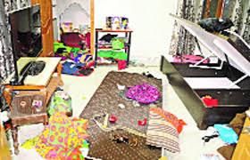 सूने का ताला तोड़ सोना-चांदी, कपड़े व नकदी समेट ले गए चोर- rannod, NEWS