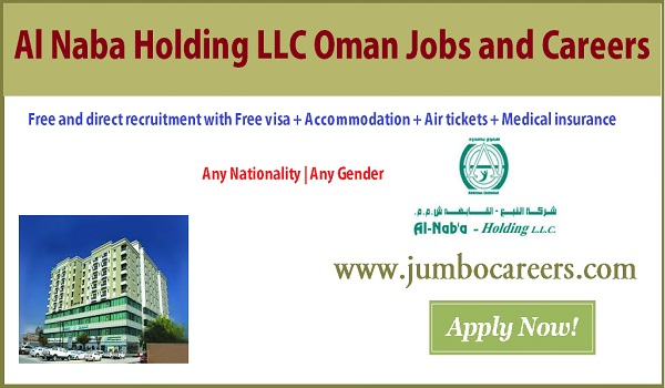 Oman facility management jobs with salary, Al Naba Oman jobs with free air ticket,