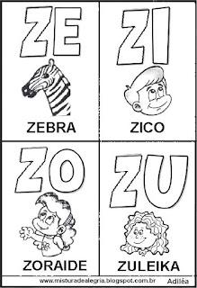 Cartaz das famílias silábicas Z