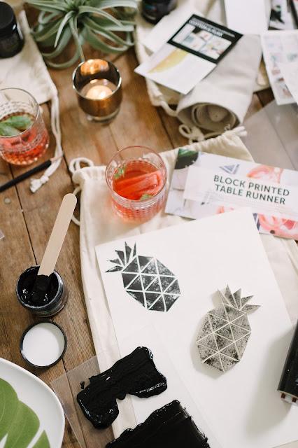 pineapple block print