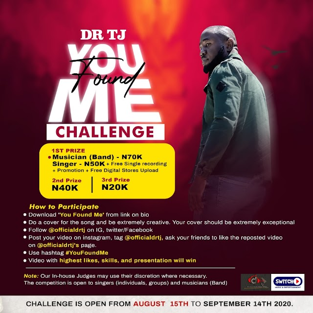 Dr Tj Throws Open The You Found Me Challenge For Singers And Musicians | @Officialdrtj