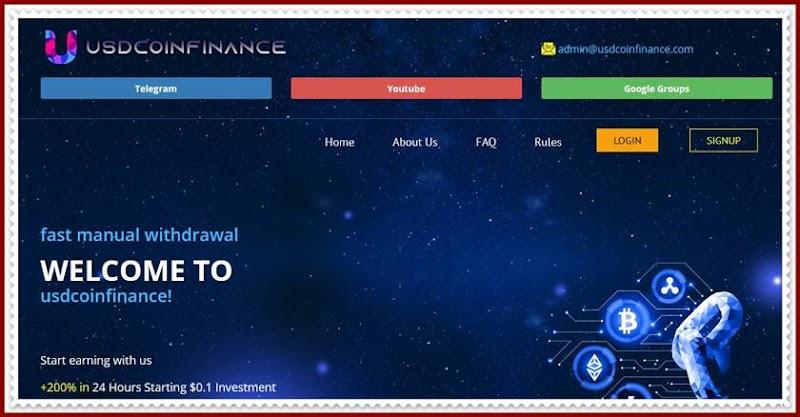 Мошеннический сайт usdcoinfinance.com – Отзывы, развод, платит или лохотрон? Мошенники