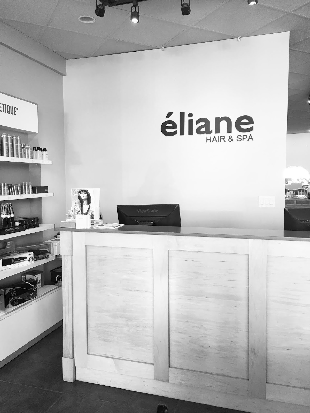 Eliane Hair & Spa welcome desk