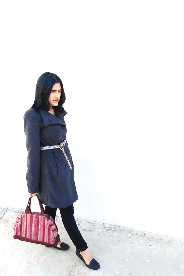 ZARA CHARCOAL COAT,thestylepanorama ,fashionblogger