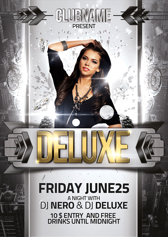 Deluxe Flyer2 Download Deluxe Party PSD Flyer Template Download