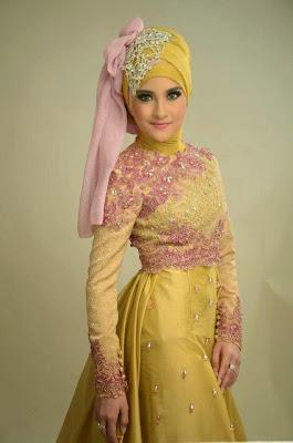 Model Kebaya Modern Muslim Kuning Elegan