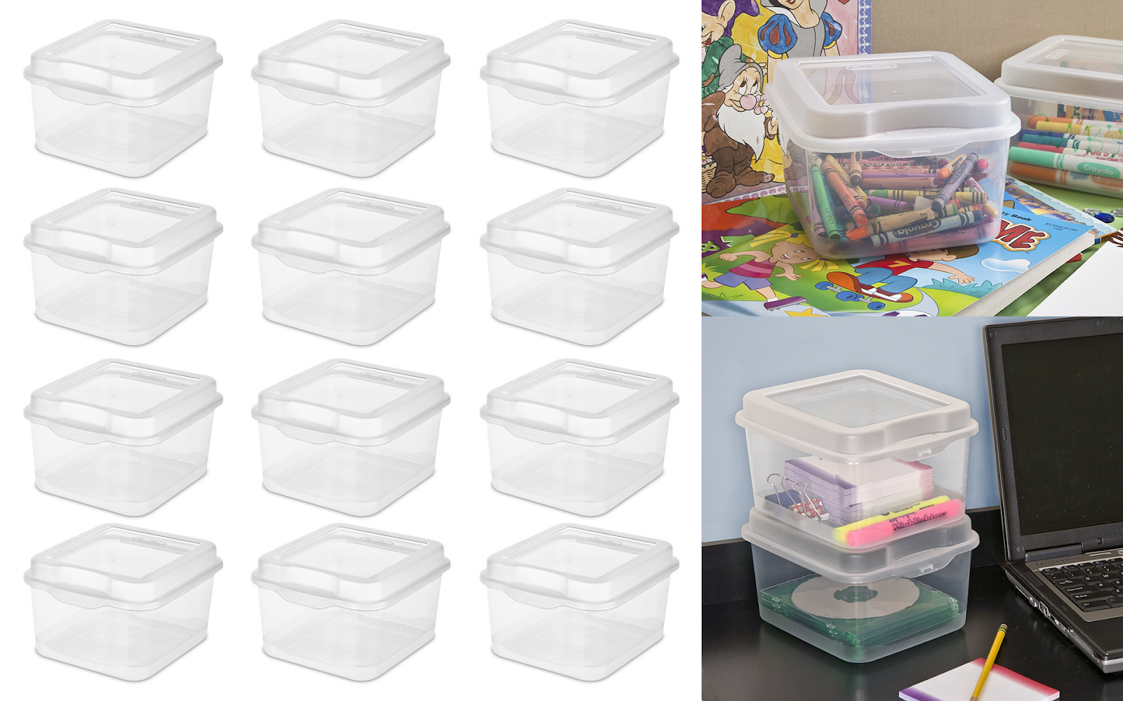 Head Over To Amazon And Score This Sterilite Flip Top Storage Box, 12 Pack  For $11.52 (Reg. $22.01). That Makes Each Container Only $0.96.