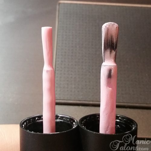 The New Pink Gellac Brush (right)