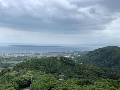 竹富島の島影
