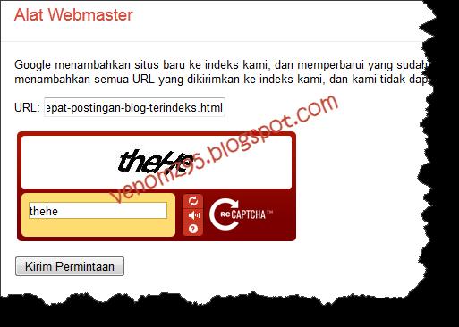 submit URL webmaster