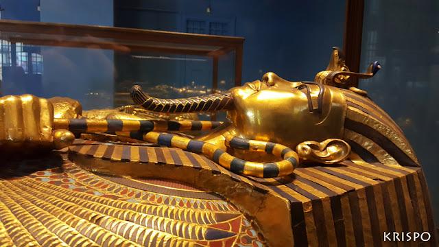 sarcófago de tutankamon del museo de El Cairo en egipto
