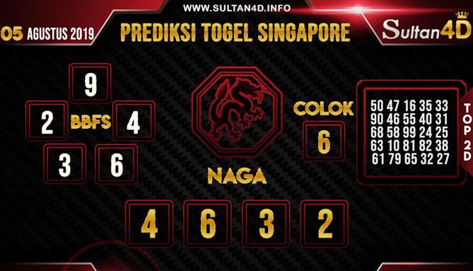 PREDIKSI TOGEL SINGAPORE SULTAN4D 05 AGUSTUS 2019
