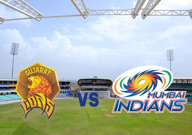 Gujarat Lions vs Mumbai Indians Super Over MI won in  Super Over Highlights