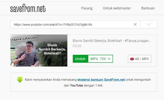 Download video dengan saveform