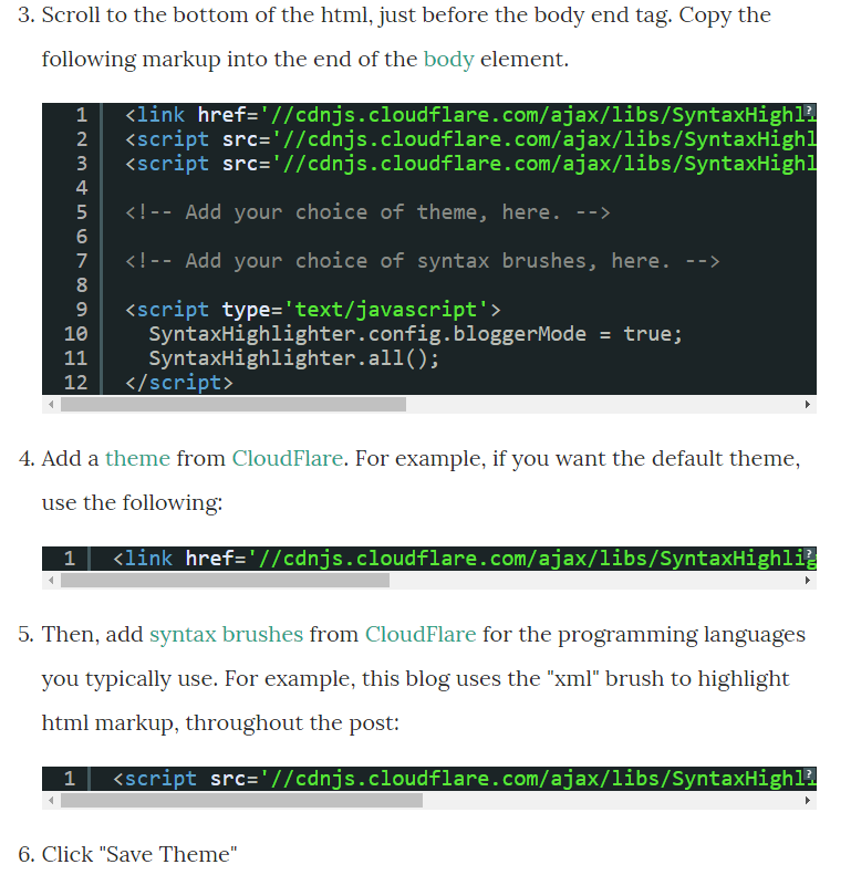 How to Format Code on Blogger Using Syntax Highlighter (v