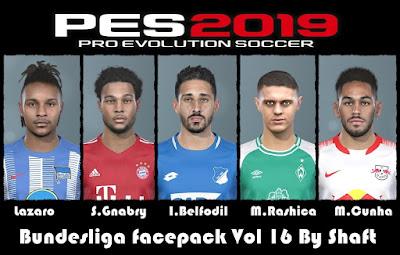 PES 2019 Bundesliga Facepack Vol 16 by Shaft