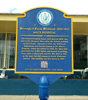 MACE HOSPITAL Historical Marker in North Wildwood, New Jersey