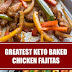 Greatest Keto Baked Chicken Fajitas #keto #chickenfajitas