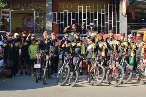Komunitas Sepeda GCC Maros Gelar Gowes Perdana