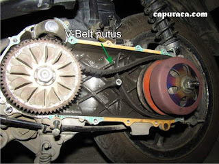 ganti V-Belt motor Beat
