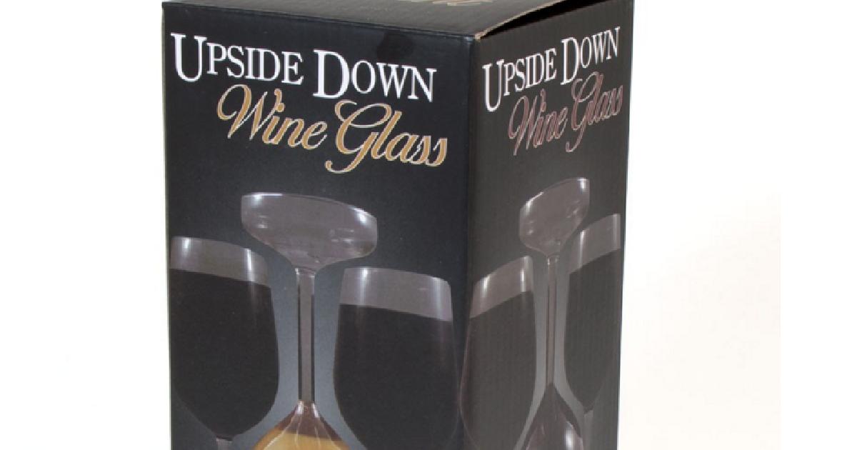 cadeaux 2 ouf id es de cadeaux insolites et originaux le verre vin retourn. Black Bedroom Furniture Sets. Home Design Ideas