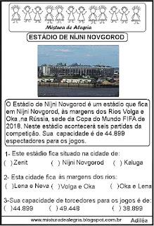 Estádio Nijni Novgorod copa mundial Rússia