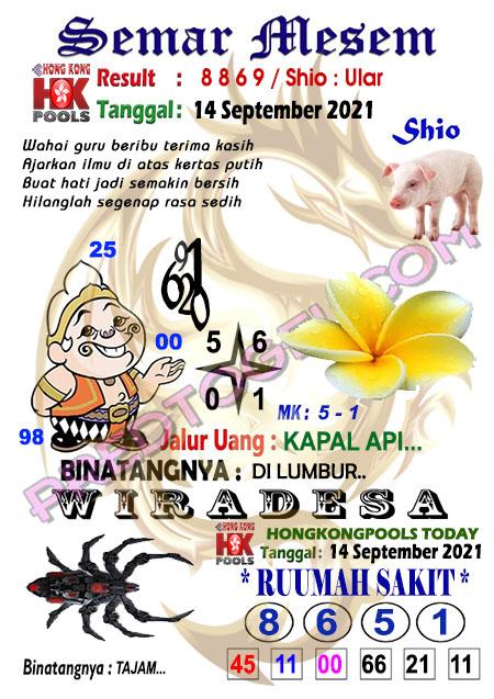 Prediksi Syair HK Semar Mesem Selasa 14 September-2021