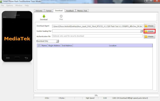 Flashear móviles Mediatek con Smart Phone Flash Tool