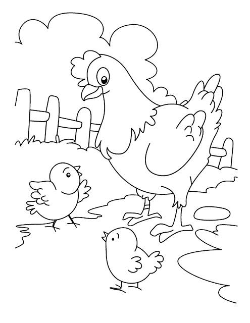 Gambar List Mewarnai Anak Ayam Induknya Pict Pictures Renungan Lili